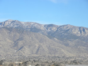 The Sandia range east of Albuquerque.